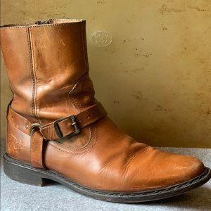 Men's Frye Marco boots. Light pre-distressed